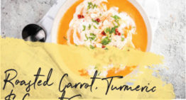 Roasted Carrot, Turmeric & Coconut Soup